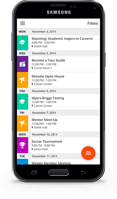 Corq Mobile App displayed on Samsung Galaxy S5